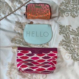 Assorted pouch/cosmetic bags